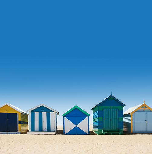 Melbourne beach huts